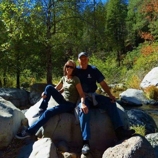 Hubby and I in beautiful Sedona, Arizona last fall. Fall Leaves Sedona, Az Love ♥ Oakcreek