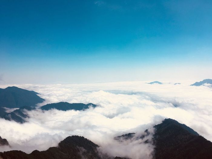 Sea of clouds Beauty In Nature Sky Scenics - Nature Mountain Cloud - Sky Tranquil Scene Tranquility