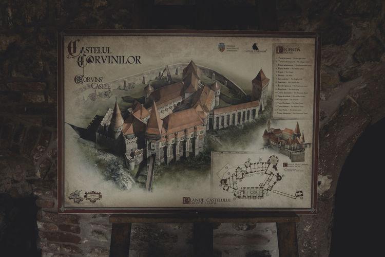 Castle Close-up Communication Day Hunedoara Non-western Script Obsolete Text Transylvania Weathered Western Script