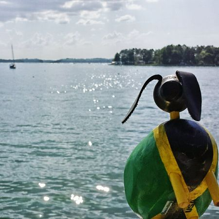 Some fun on the lake. Lakelanier Jamaican RASTA Rastafari Woodentoy Palletwood Green