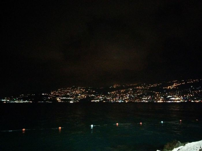 Dining with Drs Bared & Bared. Night View Of Junieh Bay