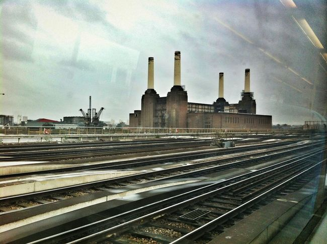 Memories Battersea Power Station South London Architecture Railway Texture Iphone4 Photography Building Site Travelling