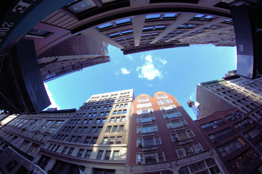 Architecture Building Exterior Built Structure City Cityscape Day Fisheye Growth Modern No People Outdoors Sky Skyscraper Ultra Wide Angle Urban