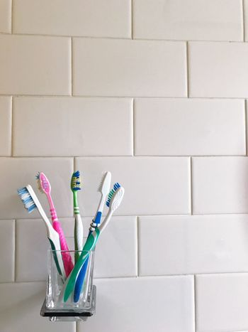 Indoors  No People Variation Close-up Day Toothbrush Everyday Lives Daily Brushing My Teeth Brush Clean Diversity Colours Be. Ready.