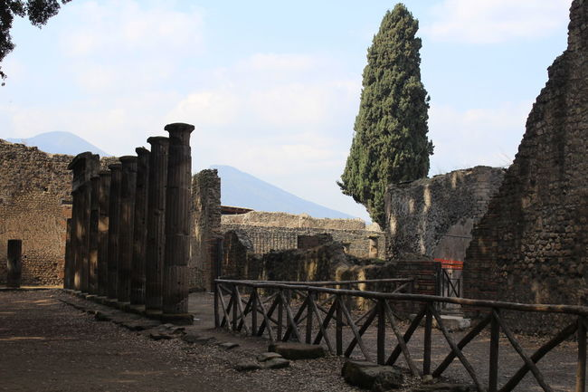 Architecture Cloud - Sky Day History Mountain No People Outdoors Pompeii