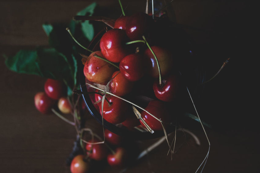 czereśnie Natura Red Czereśnie Food Freshness Fruit Jwaniowska Lato No People Pictures Red Summer