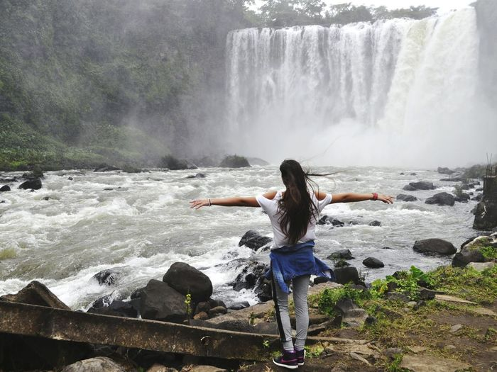 Life.|| Water Waterfall Long Hair One Woman Only Beauty One Person Outdoors Nature Natural Beauty Magical The Week On EyeEm Landscape_Collection Nature Landscape Naturelovers Beauty In Nature Beautiful Nature EyeEm Nature Lover Mother Nature Waterfalls Veracruz, México Travel Salto De Eyipantla Cascade Lost In The Landscape