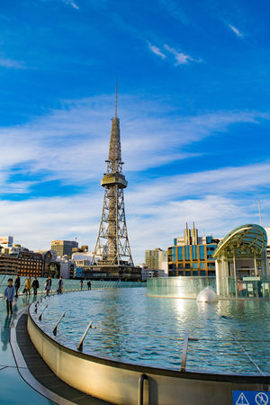 Nagoya TV Tower Cloud - Sky Oasis21 Sakae Sky Water Waterfront