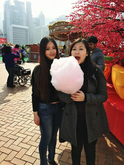 Sisters Carnival Candy Floss Happy