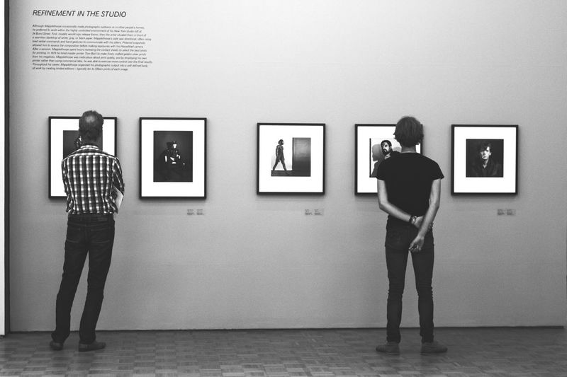 EyeEm Selects Robert Mapplethorpe Museum Full Length Standing Picture Frame Art And Craft Real People Indoors  Women Men Choice Togetherness Two People Illuminated Photograph Placard Photographing Architecture Day Painted Image Adult The Week On EyeEm EyeEmNewHere