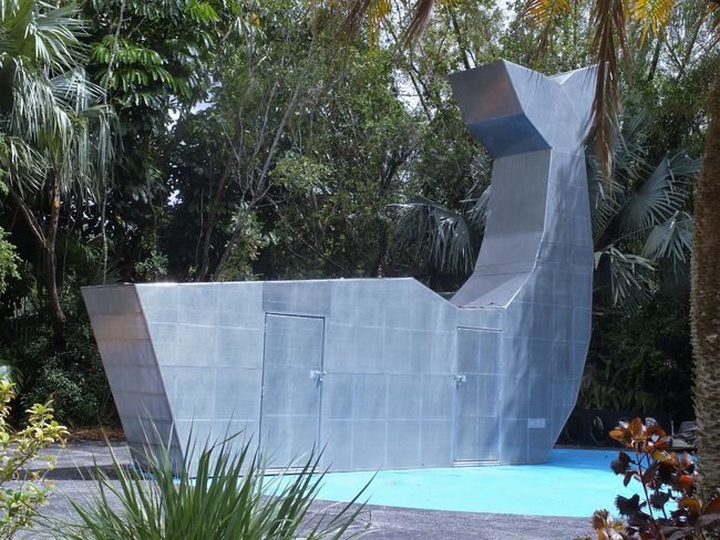 no clue whats behind those doors !!! In The Garden Metalwork Nature Sculpture Whale