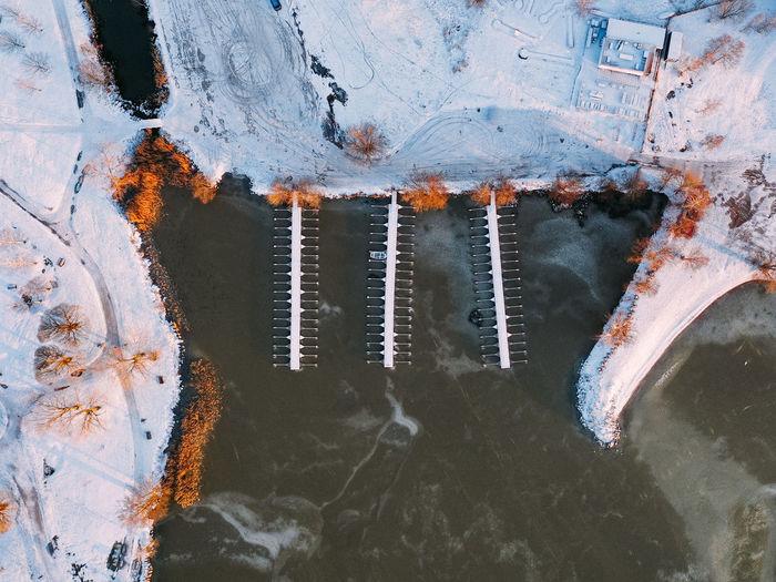 High angle view / droneshot