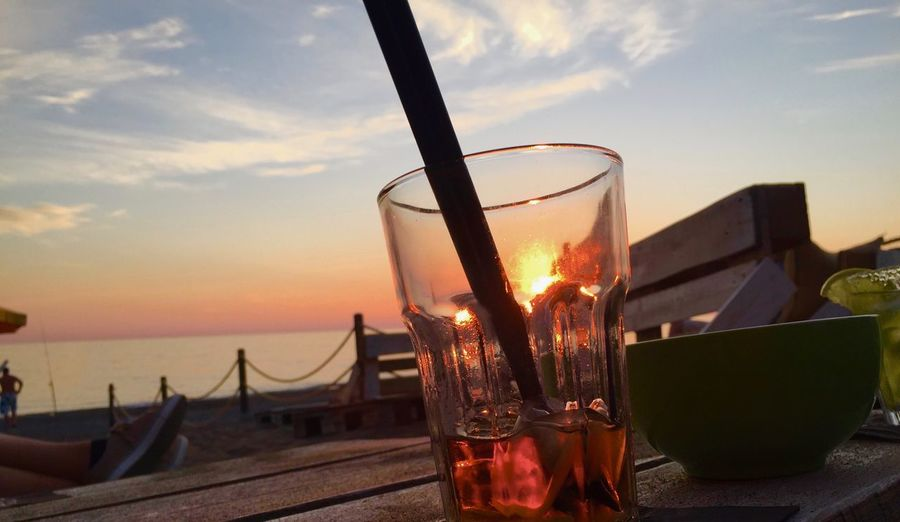 Drink Sunset Toskana Italy Mittelmeer Travel Destinations Italy Toskana EyeEm Best Shots Glass Cocktail Glass Drink Sunset Sky Refreshment Drinking Glass Food And Drink Alcohol Household Equipment Cloud - Sky No People Nature Table Glass - Material Water Freshness Still Life Sea Outdoors