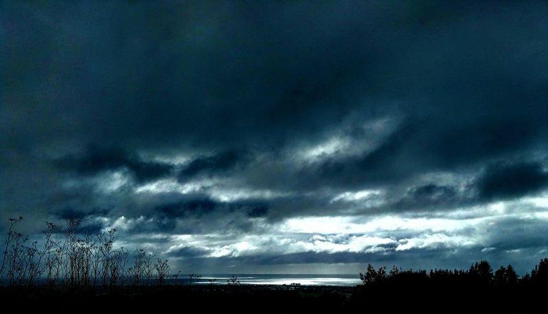 Winter Morning Storm Clouds Rain Clouds Dark Clouds Sky Scape Ominous Sky
