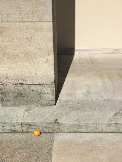 No People Architecture Outdoors Citrus Fruit Minimalism Built Structure Yellow City Life Found Object