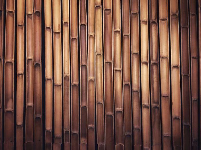 Full frame shot of halved bamboos