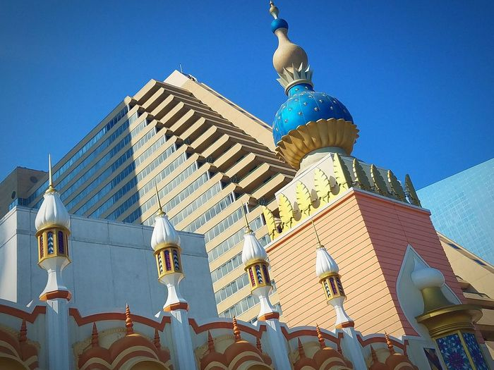Atlantic City Blue Sky Bright_and_bold Brightcolors Architecture Taj Mahal Snapshot Shapes And Forms First Eyeem Photo