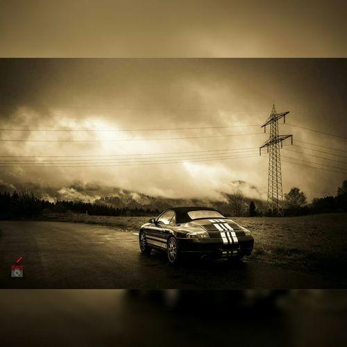 Porsche Porsche 911 Porsche996 Carrera4 Titisee Sepia Clouds Blackandwhite Sportscar