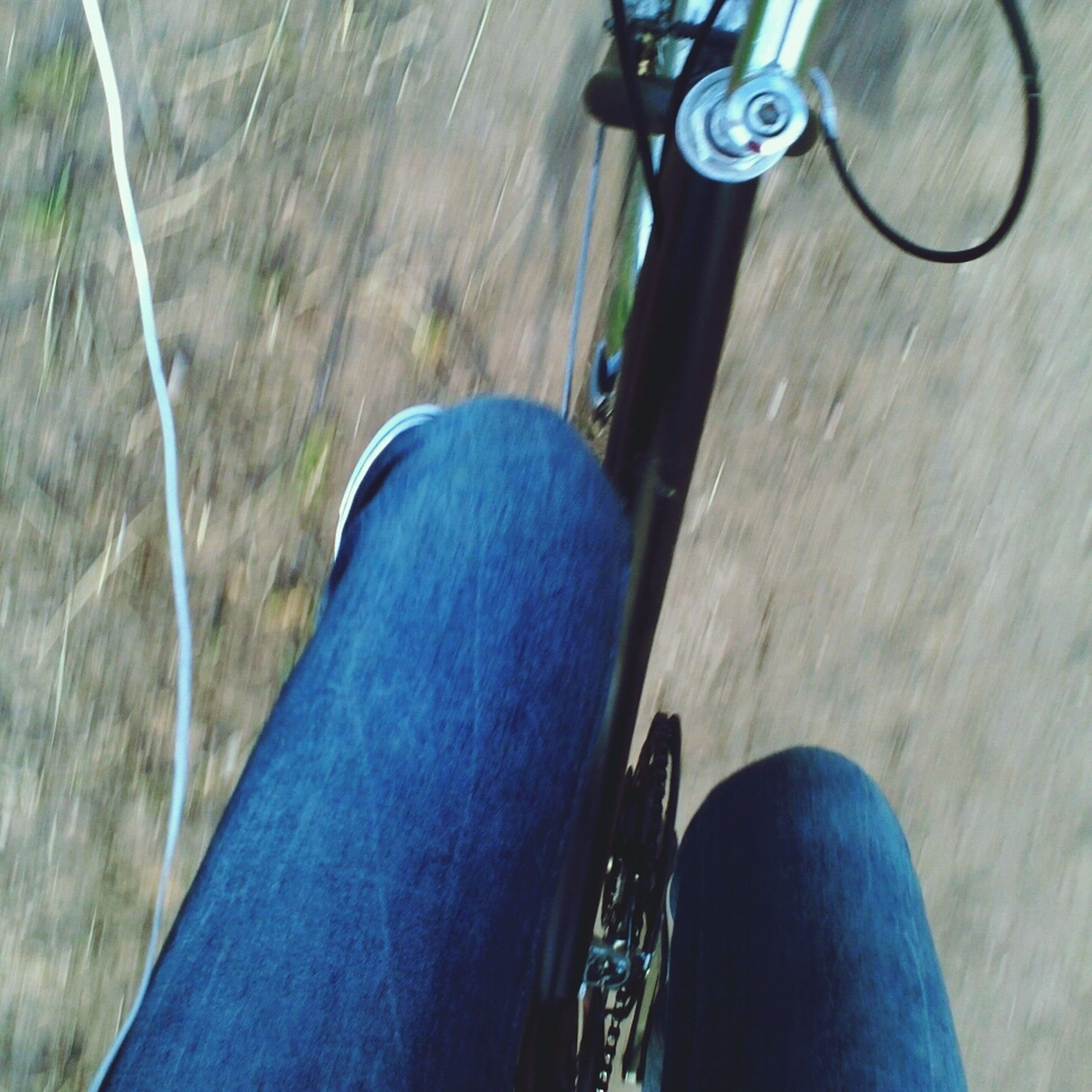 low section, person, transportation, personal perspective, shoe, part of, mode of transport, land vehicle, human foot, men, lifestyles, unrecognizable person, jeans, footwear, bicycle, leisure activity, street