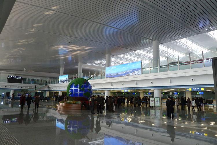 Flug Pyongyang Nach Peking Flughafen Pyongyang Northcorea