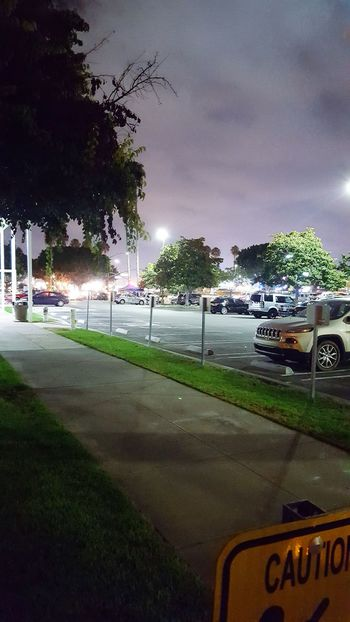 Just a parking lot at night. Parking Lot Night Photography Dark Well Lit Parking Safe Place Urban