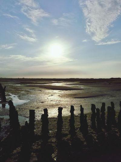 Wattenmeer Ostfriesland Weltnaturerbe Beauty In Nature Beach Sea No People Sky Outdoors Sunlight Weltnaturerbe Wattenmeer Langeoog Sonnenuntergang
