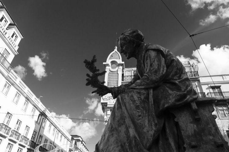 Statue Streetphotography Blackandwhite Poeta Lisbon Portugal