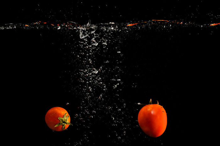 Black Background Close-up Food Food And Drink Freshness Fruit Healthy Eating High-speed Photography Indoors  No People Orange Color Studio Shot Water