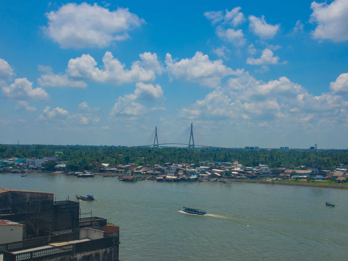 Can Tho Bridge Cityscape Cloud - Sky Day Freight Transportation Harbor Industry Mekhong River No People Riverside Sailing Sailing Ship Vietnam Vietnamese