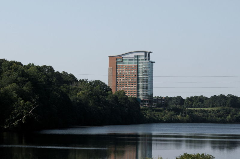 Creek Indian Casino.. Architecture Built Structure Casino Coosa River Indian Modern Water