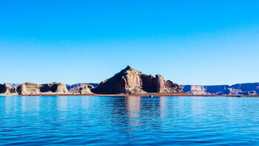 Lakepowell Water Blue Sky Reflection Travel Destinations Outdoors Explore The World Happytraveller Wonderland VSCO Vscocam Vscophile Amazing View Wallpaper Beauty In Nature Amateur Photography FirstEyeEmPic EyeEmNewHere