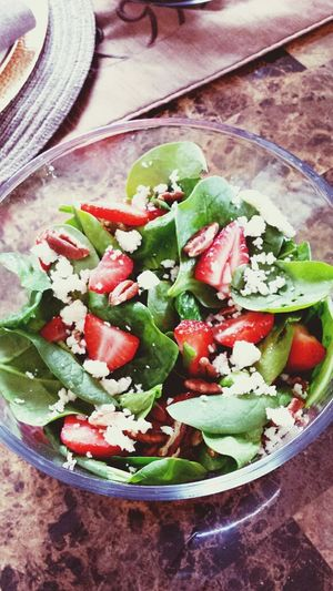 Spinach, Feta , Strawberry And Pecan Salad Inmymouf Food Porn Yum!