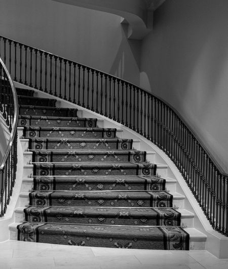 Steps Steps And Staircases Railing Staircase Indoors  Diminishing Perspective Bannister No People Interior Design Interior Hotel Hotel Lobby Stairs Fuji X-Pro 2 Fujifilm_xseries AcroS Blackandwhite