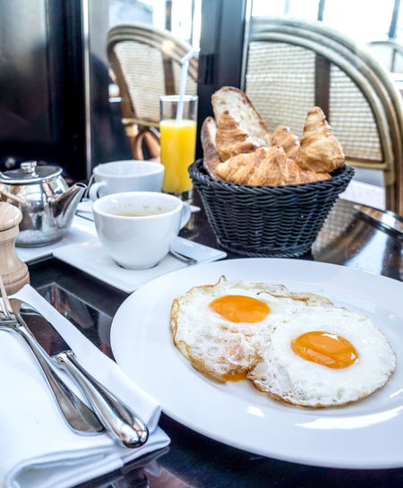 Fried Eggs On Plate
