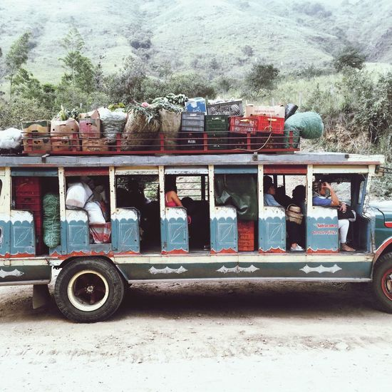 Local Transportation Commuting On The Road Colombianada