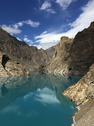 Attabad lake Attabad Lake Glaciers Melt Pakistan Hunza Valley Pakistan Mountain Water Scenics Reflection Sky Cloud - Sky Mountain Range Lake Beauty In Nature Tranquility Physical Geography No People Sunlight Outdoors Day EyeEmNewHere
