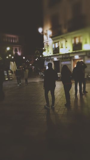 Night Walking City Men Illuminated Group Of People Women Architecture Crowd People Outdoors Adult
