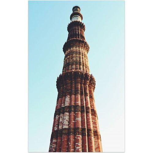 Location - Qutub Minar, Delhi, India IndiaJourney QutubMinar MonumentsofIndia Monument Tallest Brick Minaret Delhi India Vscoindia VSCO Vscomonument