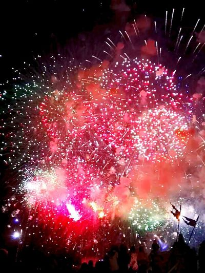 Night Firework Display Exploding Firework - Man Made Object Event Multi Colored Outdoors Sky First Eyeem Photo Colors Tulln