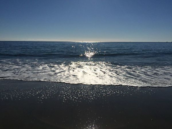 Santa Cruz, Ca. Beach Beauty In Nature Clear Sky Copy Space Day Horizon Over Water Idyllic Nature No People Outdoors Scenics Sea Sky Tranquil Scene Tranquility Water Wave
