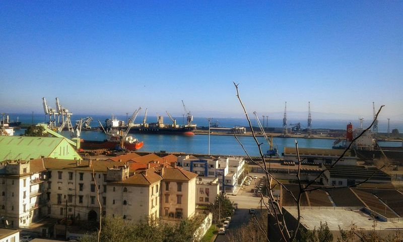 Harbour Cargo Old Harbour Old Port Blue Sky Old Buildings Traffic Sea Cargo Container Taking Photos Seaside Sky Boats Freight Transportation Freight Cargo Ship