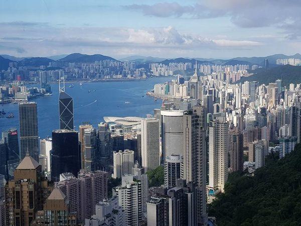 The Peak Harbour Hong Kong The Peak Victoria Harbour Building 城市 山頂 維多利亞港 繁榮 香港