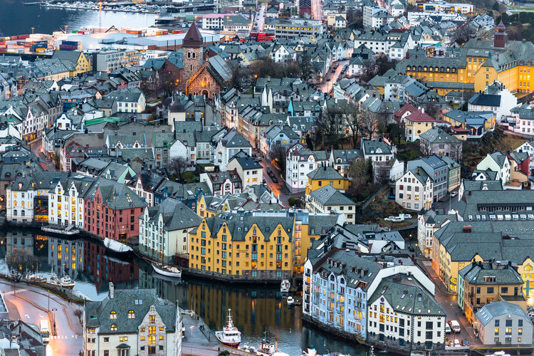 Ålesund from above, Norway 2017 Amazing Arch Architecture Beautiful Building Exterior Built Structure City Cityscape Day Full Frame High Angle View Nikon Norway Old Buildings Outdoors Peaceful Photography Residential Building Town Transportation Travel Destinations Vacations View Water Winter
