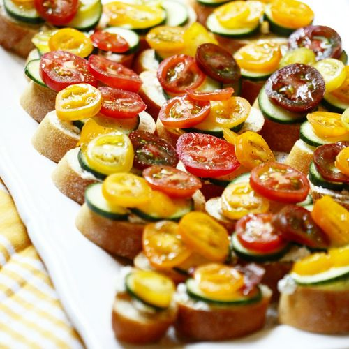 High angle view of open sandwich served in plate