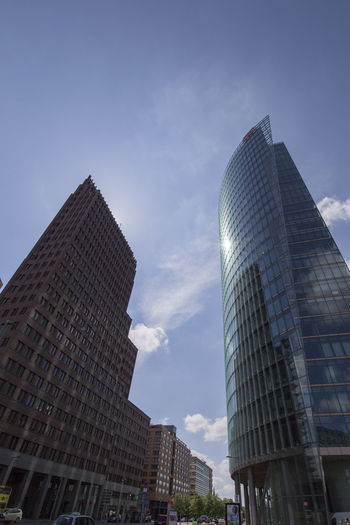 Potzdamer Platz Potzdamerplatz Architecture Building Exterior Built Structure City Day Low Angle View Modern No People Outdoors Sky Skyscraper Tall