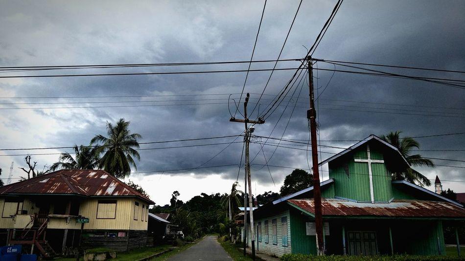 dark Cable Power Line  Cloud - Sky Sky House Electricity Pylon Built Structure