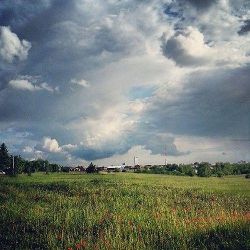 Fractus, pipacs, cumulus Kistarcsáról Nature Weather Clouds Thunderstorm mik_felho mik landscape poppy sky skypainters
