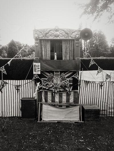 Blackandwhite Punch And Judy Show Lotherton Leeds, UK