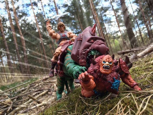 He-Man and Battlecat have Beastman right where they want him!