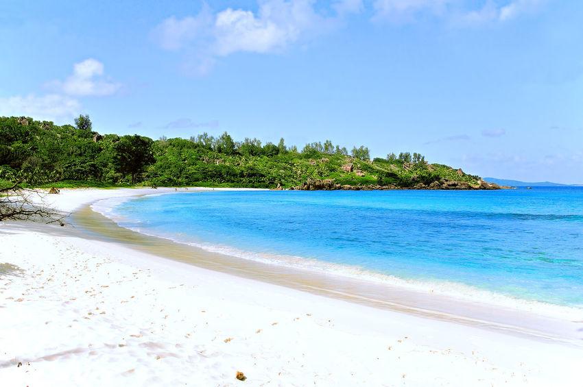 Anse Cocos, Beach on Island La Digue, Seychelles